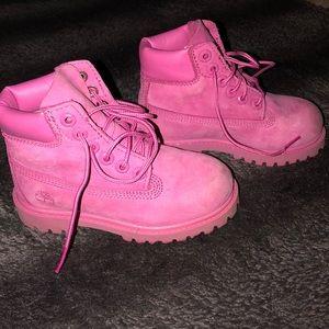 Pink Toddler Timberlands